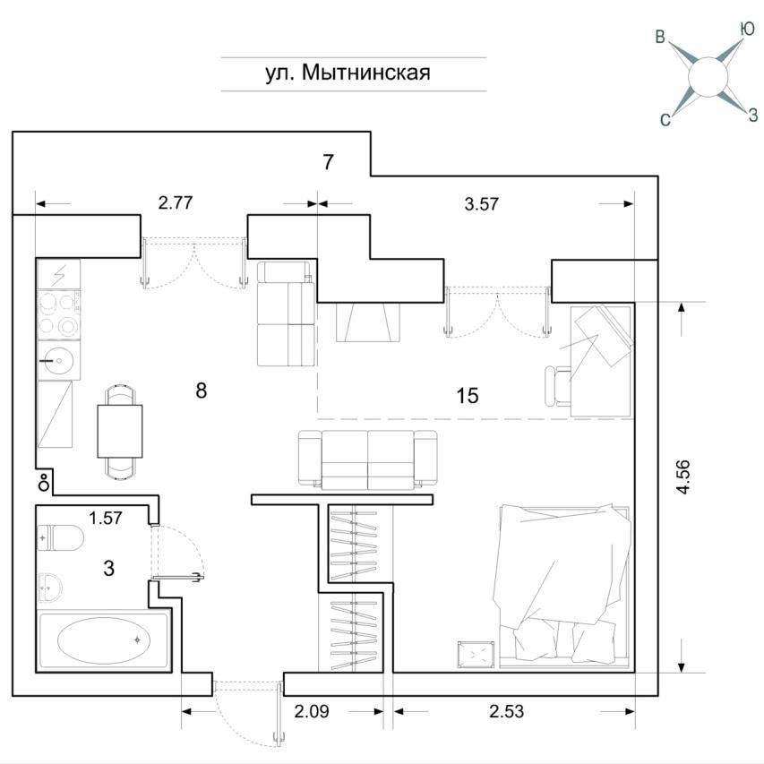 Продажа элитных квартир Санкт-Петербурга.  План квартиры