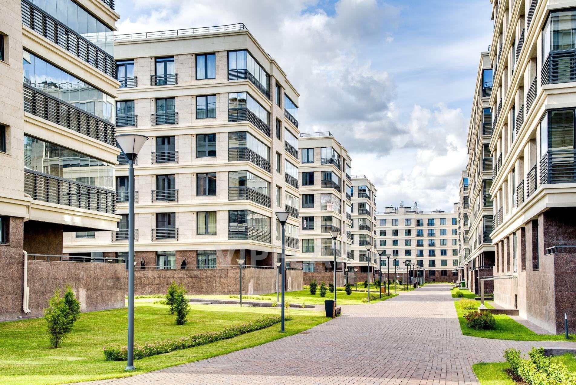Продажа элитных квартир Санкт-Петербурга. Спортивная ул., 2 Благоустроенная территория комплекса