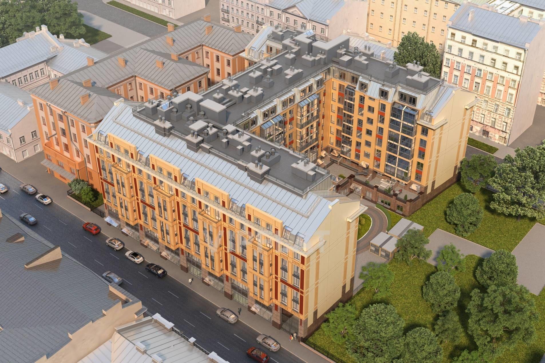 Продажа элитных квартир Санкт-Петербурга. 2-я Советская ул., 4 Вид с высоты птичьего полета