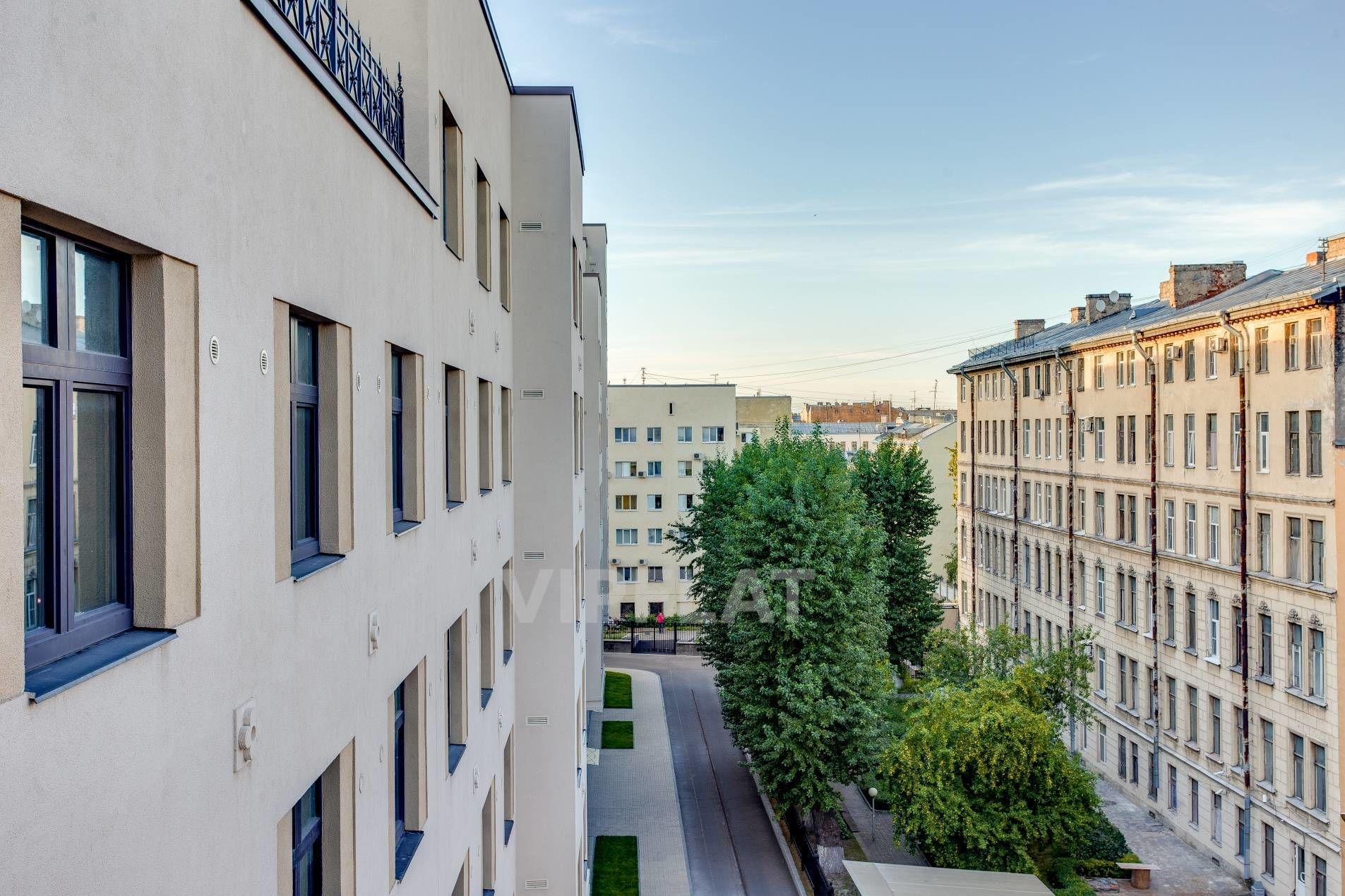 Продажа элитных квартир Санкт-Петербурга. Басков пер., 2 Вид из окон спальни
