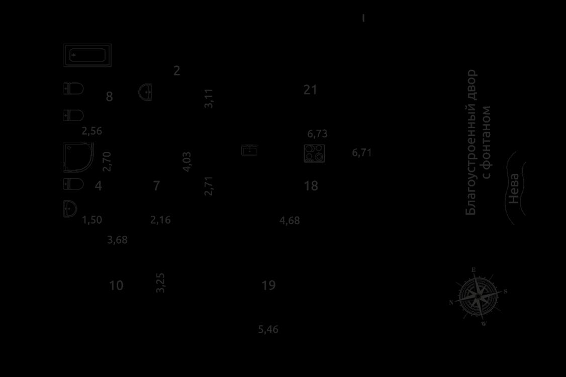 Продажа элитных квартир Санкт-Петербурга. Вязовая ул., 10 План квартиры