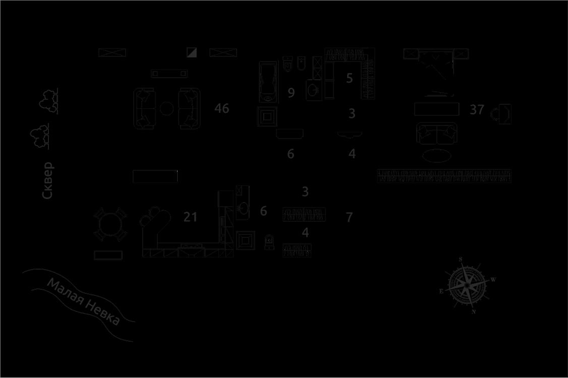Продажа элитных квартир Санкт-Петербурга. Песочная наб., 12 План квартиры