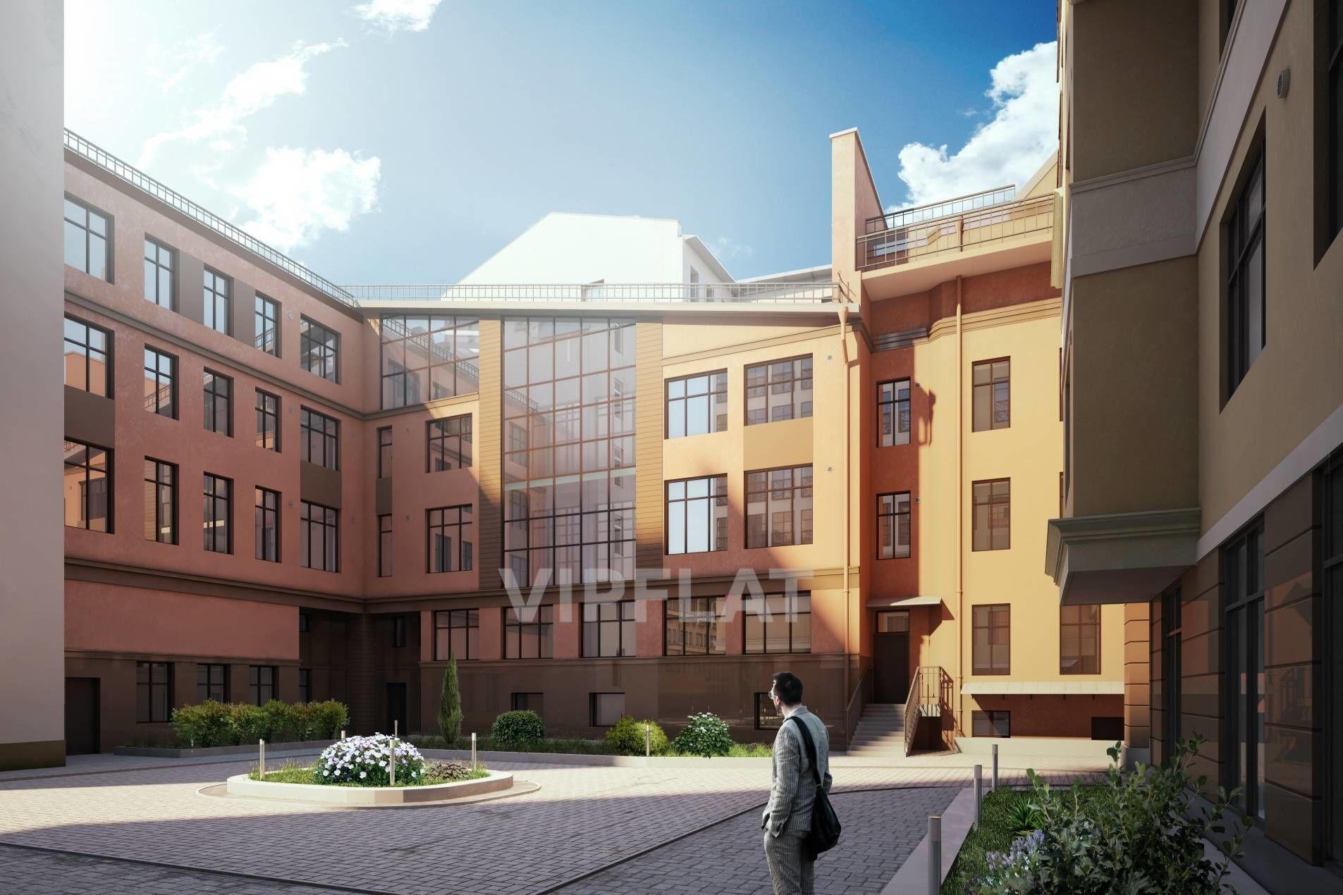 Продажа элитных квартир Санкт-Петербурга. Пионерская ул., 33 Вид на малый корпус со стороны двора