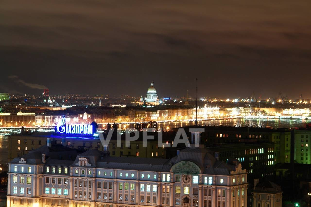 Продажа элитных квартир Санкт-Петербурга. Оренбургская ул., 2 Панорама ночного Петербурга