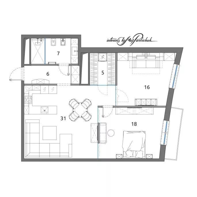 Как из не функциональной квартиры сделать интересный проект?